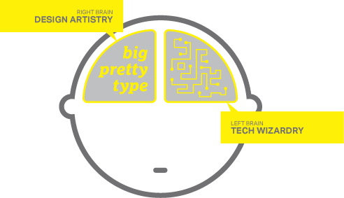 Utah web design brain graphic